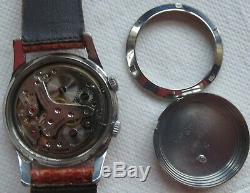Girard Perregaux Alarm mens wristwatch steel case load manual original dial