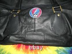 Grateful Dead Mini Steal Your Face Overnight Leather Purse Luggage Case Bag-new