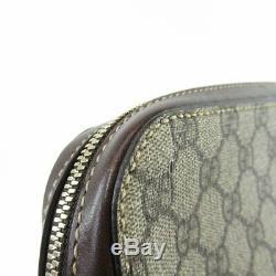 Gucci Unisex Original GG Supreme Beige Canvas Laptop Case Briefcase 267919