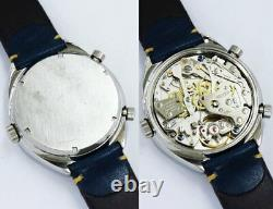 HEUER CARRERA Ref. 110573B Original Dial Tonneau case Cal. 12 Watch Automatic Used