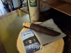 Helle Wabakimi Knife with Leather Case Hand Made in Norway Les Stroud designed