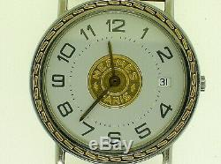 Hermes-paris Unisex Watch With Original Pouch And Certificate 32 MM Case B/o