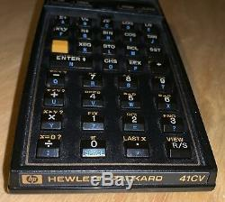 Hewlett Packard HP 41CV Calculator With Original Leather Case & Quick Ref Guide