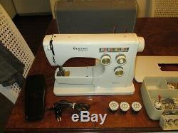 Husqvarna Viking sewing machine 6020withcase pedal and manuals, etc-Original Owner