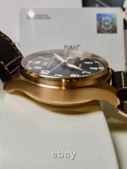 IWC Big Pilot Rose Gold 5009 RARE 99% LNIB MINTY Heavy Solid Gold Case 2 Straps