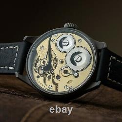 IWC Schaffhausen Probus black watch vintage pilot aviator genial major