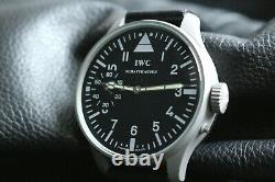 IWC Vintage 1880`s MILITARY PILOT STYLE A-DIAL New Cased Swiss Men`s Wrist Watch