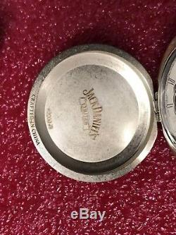 JACK DANIELS LIMITED OLD No. 7 POCKET WATCH LEATHER CASE 2000 Winding