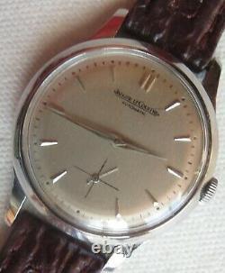 Jaeger LeCoultre automatic bumper wristwatch steel case screw cap original dial