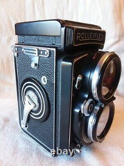 Joe DiMaggio's Rolleiflex camera in original leather casing