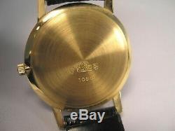 Jules Jurgensen 18 K Solid Gold Case All Original Men's Swiss Made Watch w Box