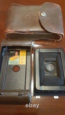 Kodak Camp Fire Girls Camera with Original Leather Campfire Case SO RARE