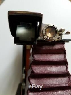 Kodak TBI Automatic FPK folding camera. Original leather case. Circa 1909