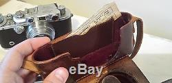 LEICA DRP ERNST LEITZ WETZLAR NO. 298025 With ORIGINAL LENS & LEATHER CASE GERMANY