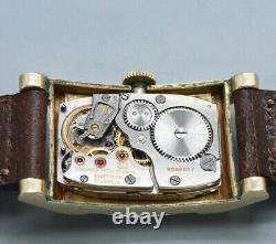 LONGINES Rectangular Case Original dial Hand Winding Vintage Watch 1950's