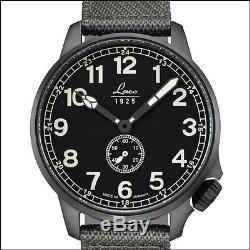 Laco JU-52 Automatic Pilot Watch with Black PVD Case, Sapphire Crystal #861908