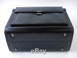 Large Leather Pilot Case Business Laptop Travel Flight Briefcase Bag Hand Luggag