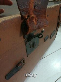 Large Trunk Steamer Case C. Edwards Dickins Jones Ltd Regent St London Antique