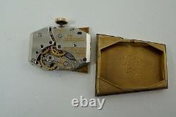 LeCOULTRE ARISTOCRAT 10K GOLD FILLED MINTY CASE ORIGINAL TUTONE DIAL C. 1951