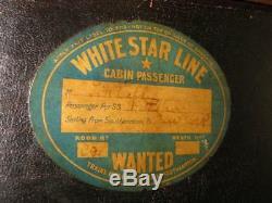Leather Top Hat Case Titanic Antique Vintage Victorian Bag Luggage Suitcase 1895