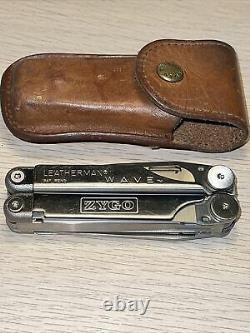 Leatherman Wave Original with leather case Retired 0300 Excellent
