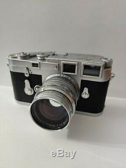 Leica M3 837540 with original leather case + Summarit 50mm Lens