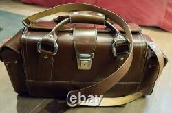 Leica Original Hard Leather Combination Carrying Case with two side bag