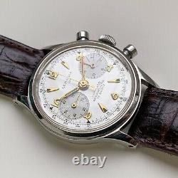 Lemania 105 Ref. 254 1960s Chronograph, Mint Original Dial & Stainless-Steel Case