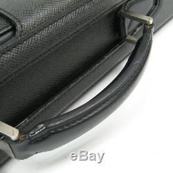Louis Vuitton Taiga Pilot Case Oural M30022 Briefcase Ardoise BF335028