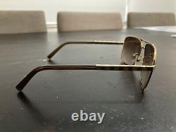 Louis Vuitton Z0259U Gold Sunglasses Mint Condition with Original Leather Case
