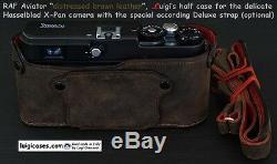 Luigi Premium Raf Pilot Half Case+strap For Hassy/hasselblad X-pan, Ups Included