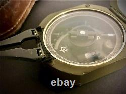 M2 Military Compass with Original Leather Case Vietnam Era 1974. Nice
