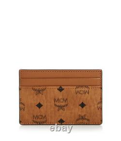 MCM Card Case Visetos Original Cognac Brown One Size Mens Wallet MXAAAVI01CO001