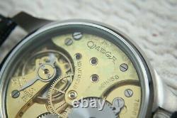 MILITARY PILOT Vintage 1930`s Swiss movement SKELETON New Cased Men`s Wristwatch