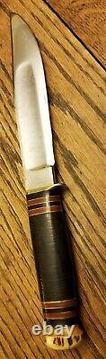 Marbles 1905 MSA Era Stag Rare Thick Blade Ideal Bowie Original Case Gladstone
