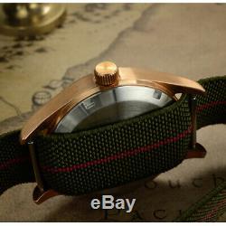 Men Pilot Automatic Watch Bronze Case Wristwatch 20ATM SapphireGlass ST2130 39MM
