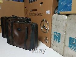 Mercedes w140 w126 w116 original leather suite case luggage set koffer x3