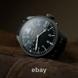 Military IWC Schaffhausen Probus black watch vintage pilot aviator genial major