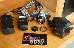 Minolta SRT 100 35mm Film Camera with Lens & Original Leather Case Good Con