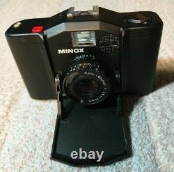 Minox 35EL 35mm Film Camera w Leather Case Original Box & Instructions Nice