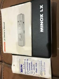 Minox LX Rare Black Subminiature Camera w. Leather Bag, BOXED IN ORIGINAL CASE