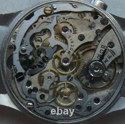 Moeris Chronograph mens wristwatch steel case all original one pusher
