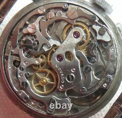 Movado Chronograph mens wristwatch steel case all original recent service