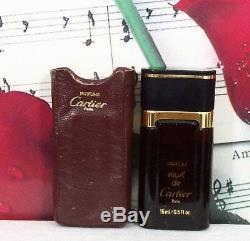 Must De Cartier Original Formula Pure Perfume 0.5 oz / 1/2 oz Leather Case