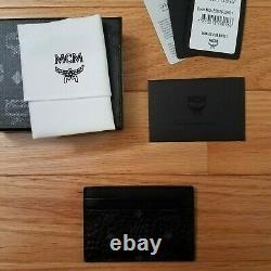 NEW Authentic MCM Card Case in Visetos Original BLACK