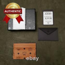NEW Authentic MCM Card Case in Visetos Original Cognac / Brown