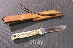 NICE Puma Hunters Pal Stag Hunting Knife with Leather Case from my Collection 1968