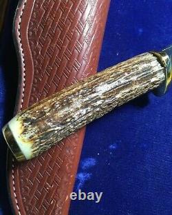 Nanee-b Case XX Nine Dot Blade, Stag 5 Hunting Knife 5400-leather Sheath