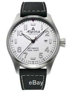 New Alpina Startimer Pilot Automatic Steel Case White Dial 44mm Al-525s4s6