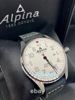 New Alpina Startimer Pilot Automatic Steel Case White Dial 44mm Al-525s4s6